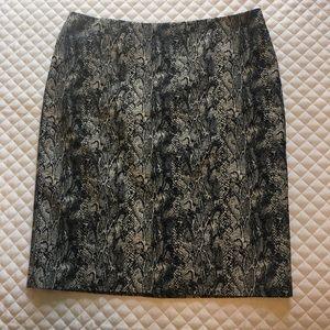 Talbots Snakeskin Pencil Skirt
